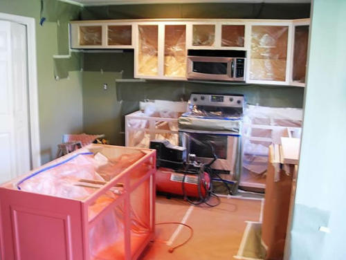 Chester County, PA Kitchen Cabinet Painting